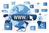 Online communication.Internet surfing concept. Global social networking and messaging.