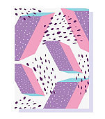 geometric design of trendy  80s 90s style abstract background