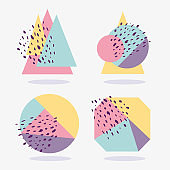 geometric texture abstract  layout shapes various