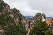 Beautiful Landscape view of peak Seorak mountains at the Seorak-san National Park, Soraksan, South Korea.
