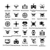 Drone Technology Icons Pack