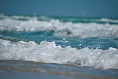 water ocean landscape. The deep sea background. Natural blue tropical look