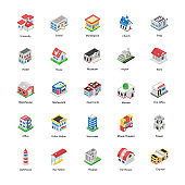 Modern Architectures in Isometric Vectors Pack