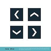 Arrow in Square Icon Vector Logo Template Illustration Design. Vector EPS 10.