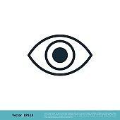 Eye Ball View Icon Vector Logo Template Illustration Design. Vector EPS 10.