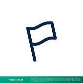 Flag Icon Vector Logo Template. Vector EPS 10.