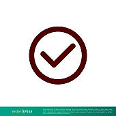Checklist, Check Mark Icon Vector Logo Template Illustration Design. Vector EPS 10.