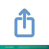 Upload Arrow Up Icon Vector Logo Template Illustration Design. Vector EPS 10.