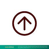 Upload Up Arrow Icon Vector Logo Template Illustration Design. Vector EPS 10.