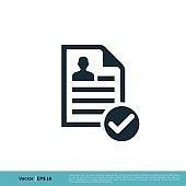 Paper / Document Icon Vector Logo Template Illustration Design. Vector EPS 10.