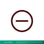 Negative / Minus Icon Vector Logo Template Illustration Design. Vector EPS 10.