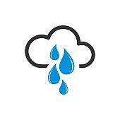 Cloud Raindrop Logo Template Illustration Design. Vector EPS 10.