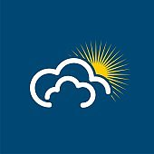 Cloud and Sun Logo Template Illustration Design. Vector EPS 10.