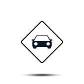 Road Sign Vector Logo Template Illustration EPS 10