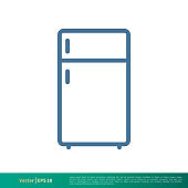 Freezer, Cooler Container Icon Vector Logo Template Illustration Design. Vector EPS 10.