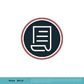 Paper Icon Vector Logo Template Illustration Design. Vector EPS 10.