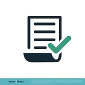 Paper Document Icon Vector Logo Template Illustration Design. Vector EPS 10.
