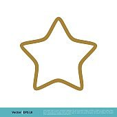 Simple Star Shape Icon Vector Logo Template Illustration Design. Vector EPS 10.