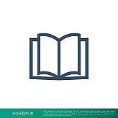 Book - Education Icon Vector Logo Template Illustration Design. Vector EPS 10.