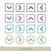 Arrow Set Border Shape Line Art Colorful Vector Logo Template Illustration Design. Vector EPS 10.