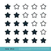 Star Rating Icon Vector Logo Template Illustration Design. Vector EPS 10.