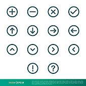 Set of UI icon Vector Logo Template Illustration Design. Vector EPS 10.