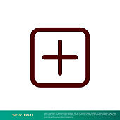 Plus Icon Vector Logo Template Illustration Design. Vector EPS 10.