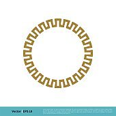 Circle Border Ornamental Icon Vector Logo Template Illustration Design. Vector EPS 10.