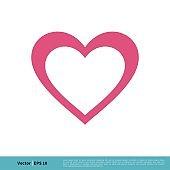 Heart Icon Vector Logo Template Illustration Design. Vector EPS 10.