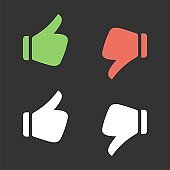 Thumbs up, Thumbs Down, Like and Dislike Logo Template Illustration Design. Vector EPS 10.