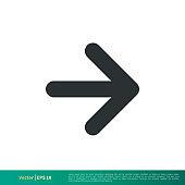 Next Arrow - UI Icon Vector Logo Template Illustration Design. Vector EPS 10.