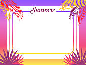 Summer Poster Place for Text Vector Illustration