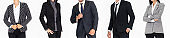 Close up people in business suit body on white background
