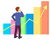 Growing Arrow Financial Graphs, Business Education