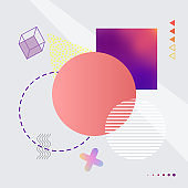 Abstract Image with Shapes on Vector Illustration