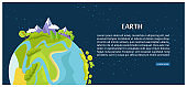 Save Earth Poster View on Planet from Outer Space