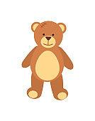 Teddy Bear Fluffy Toy Poster Vector Illustration