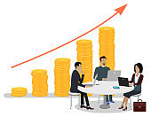Business People and Investments Growth Vector