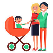 Parents' Day Poster Depicting Family with Young Child