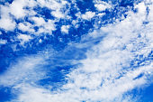 White cirrus clouds blue sky background close up, fluffy cumulus cloud texture, beautiful cloudscape panoramic view, sunny heaven cloudy weather, cloudiness backdrop, azure skies panorama, ozone layer