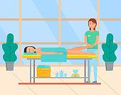 Massage Procedure in Spa Beauty Salon, Foot Care