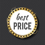 Best Price Circle Frame with Bulbs and Gold Light