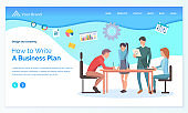 How to Write Business Plan, Worker Strategy Vector