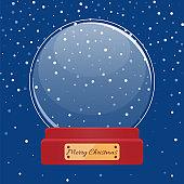 Happy New Year Snowball, Christmas Ball Vector