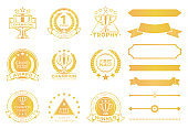 Grand Prize Award Certificates and Ribbons in Gold