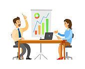Brainstorming Seminar of Team, Office Workers