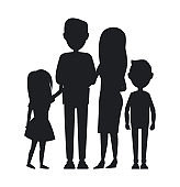 Big Family Consist of Parents, Son and Daughter