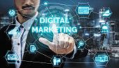 Marketing of Digital Technology Business Concept