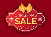 Winter Holiday Postcard, Christmas Sale Vector