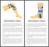 Orthopedic Tools Set and Text Vector Illustration